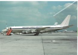 British Cargo Airlines Douglas DC-8-54F G-BDHA Aereo Aviation Airplane - 1946-....: Era Moderna