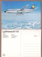 AC - LUFTHANSA B 737 CITY JET CARETE POSTALE - POST CARD - Rallyes