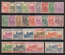 Tunisie - 1926-28 - N°Yv. 120 à 145 - Série Complète - Neuf * / MH VF - Tunisie (1888-1955)