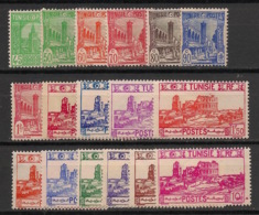 Tunisie - 1939-41 - N°Yv. 206 à 222 - Série Complète - Neuf  Luxe ** / MNH / Postfrisch - Tunisie (1888-1955)