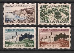 Tunisie - 1953-54 - Poste Aérienne PA N°Yv. 18 à 21 - Complet 4v - Neuf  Luxe ** / MNH / Postfrisch - Tunisie (1888-1955)