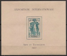 Togo - 1937 - Bloc Feuillet BF N°Yv. 1 - Exposition Internationale - Neuf * / MH VF - Togo (1914-1960)