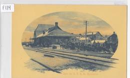 1910 - Gare Du G.T.R., St. Hyacinthe, Québec, E.H. Richer & Fils  (F114) - St. Hyacinthe
