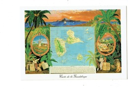 Cpm - Carte GUADELOUPE Moulin Tonneau Sucre Coton Tortue - Guadeloupe