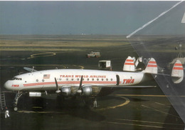 TWA - Trans World Airlines Lockheed L-749A Costellation N6018C Tristar Aviation Airplanev At SFO - 1946-....: Era Moderna