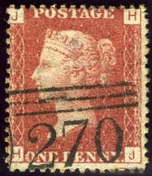 Great Britain. SG #43/44. Used. Plate 133. - 1840-1901 (Viktoria)