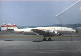 TWA - Trans World Airlines Lockheed L-749 Costellation N91207 Aviation Airplane - 1946-....: Era Moderna