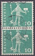 HELVETIA - SUISSE - SVIZZERA - 1960 - Coppia Di Yvert 644A Uniti Fra Loro. - Usati