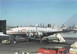 TWA - Trans World Airlines Lockheed L-749 Costellation N91201 Aviation Airplane Texaco At EWR - 1946-....: Era Moderna