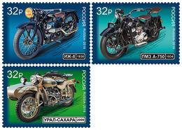 2019-2502-2504 3v Russia. History Of Russian Motorcycle TRANSPORT: Motorbikes: Motorcycles Mi 2748-2750 ** - 1992-.... Fédération