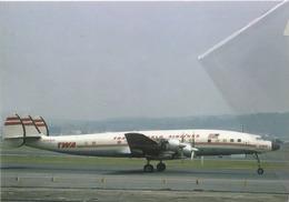 TWA - Trans World Airlines Lockheed L-649A Costellation N8081H Aviation Airplane Texaco At Dca - 1946-....: Era Moderna