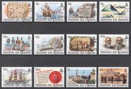 Tristan Da Cunha 1983 Mi# 345-56 (CTO) DEFINITIVES, ISLAND HISTORY - Tristan Da Cunha