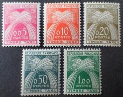R1615/802 - 1960 - TIMBRES TAXE - N°90 à 94 NEUFS** - Cote : 70,00 € - 1960-.... Neufs