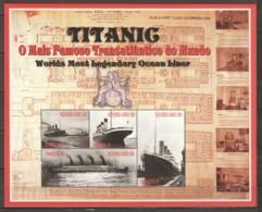 Angola 1998 Kleinbogen Mi 1269-1272 MNH TITANIC - Barche