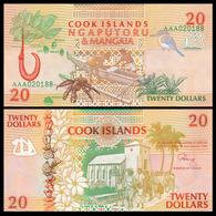 COOK - ISLANDS - 20 DOLLARS - 1992 - UNC - Cook