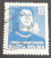 POLOGNE YT 717 OBLITÉRÉ(avec Reste De Fragments Au Verso) ANNÉE 1953 - Gebraucht