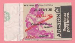 Biglietto D'ingresso Stadio Juventus Avellino 1986/87 - Biglietti D'ingresso