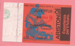 Biglietto D'ingresso Stadio Juventus Riserva B  1986/87 - Biglietti D'ingresso