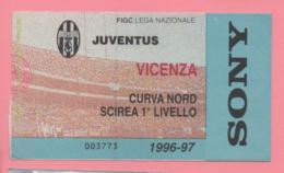 Biglietto D'ingresso Stadio Juventus Vicenza  1996/97 - Tickets - Vouchers