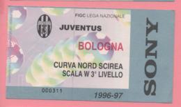 Biglietto D'ingresso Stadio Juventus Bologna 1996/97 - Tickets D'entrée