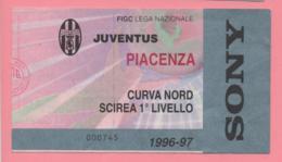 Biglietto D'ingresso Stadio Juventus Piacenza 1996/97 - Tickets - Vouchers
