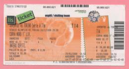 Biglietto D'ingresso Stadio Juventus Torino 2008 - Biglietti D'ingresso