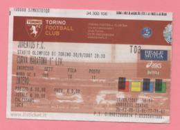 Biglietto D'ingresso Stadio Torino Juventus 2007 - Biglietti D'ingresso