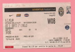 Biglietto D'ingresso Stadio Juventus Milan 2004 - Tickets - Vouchers