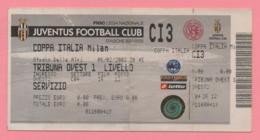 Biglietto D'ingresso Stadio Juventus Milan 2002 - Biglietti D'ingresso