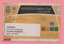 Biglietto D'ingresso Stadio Juventus Frosinone 2006 - Tickets - Vouchers