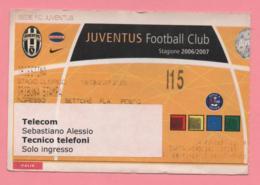 Biglietto D'ingresso Stadio Juventus Triestina 2007 - Biglietti D'ingresso