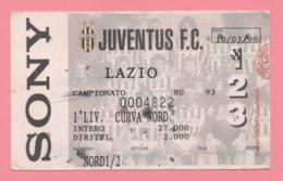 Biglietto D'ingresso Stadio Juventus Lazio 1996 - Biglietti D'ingresso
