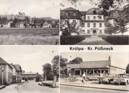 AQ61 Krolpa Kr. Possneck - Multiview, Vintage Cars, RPPC - Poessneck