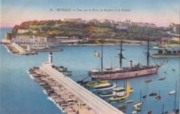 AQ61 Monaco, Vue Sur Le Port, Le Rocher Et Le Palais - Harbor
