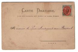 Carte Dinatoire - Menu - Janvier 1885 - A M. Le Sous-Lieutenant Van Bredael - Postée Du Danemark - 2 Scans - Sonstige