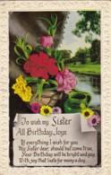 AR64 Greetings - To Wish My Sister Birthday Joys - Flowers, Stream - Birthday