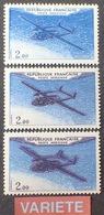 """R1615/808 - 1960 - POSTE AERIENNE - NORATLAS - N°38 Et 38a NEUFS** LUXE - VARIETE ➤➤➤ """" Gros Avion """" (timbre Du Bas) - Poste Aérienne"""