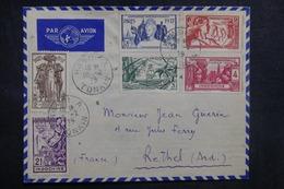 INDOCHINE - Enveloppe De Hanoï Pour La France En 1939, Affranchissement Plaisant - L 41653 - Indochine (1889-1945)