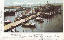Trieste (Triest) * Leuchtturm, Hafen, Schiff, Segelboot * Italien * AK418 - Trieste