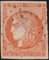 France  .   Yvert   .    48    (2 Scans)  .       O          .      Oblitéré - 1870 Bordeaux Printing