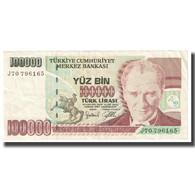 Billet, Turquie, 100,000 Lira, 1970, 1970-10-14, KM:206, TTB - Turquie