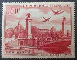 R1615/813 - 1949 - POSTE AERIENNE - VUE DE PARIS - N°28 NEUF** - 1927-1959 Mint/hinged