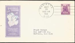 J) 1938 UNITED STATES, NORTHWEST TERRITORY, FDC - United States
