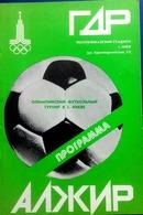 OLYMPIADE 1980 - KIEV - Football  Program -  EAST  GERMANY  V.  ALGERIA . - Jeux Olympiques