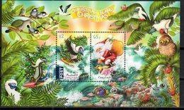 CHRISTMAS ISLAND, 2018, MNH, CHRISTMAS, SANTA CLAUS, BIRDS,  TURTLES, FISH, LIZARDS, SHEETLET - Christmas