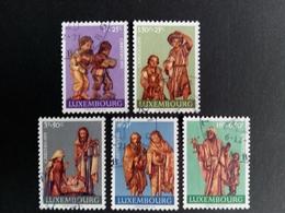 LUXEMBOURG MI-NR. 836-840 GESTEMPELT CARITAS 1971 KRIPPENFIGUREN - Usados