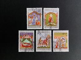 LUXEMBOURG MI-NR. 893-897 GESTEMPELT CARITAS 1974 MINIATUREN AUS EVANGELIENBUCH - Usados