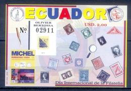J131- Ecuador 2004 Stamp Day. Día Internacional De La Filatelia. - Ecuador