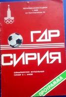 OLYMPIADE 1980 - KIEV - Football  Program -  EAST  GERMANY  V.  SYRIA . - Olympics