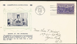 J) 1938 UNITED STATES, CONSITUTION RATIFICATION, SINGING BY THE DELEGATES, FDC - Verenigde Staten